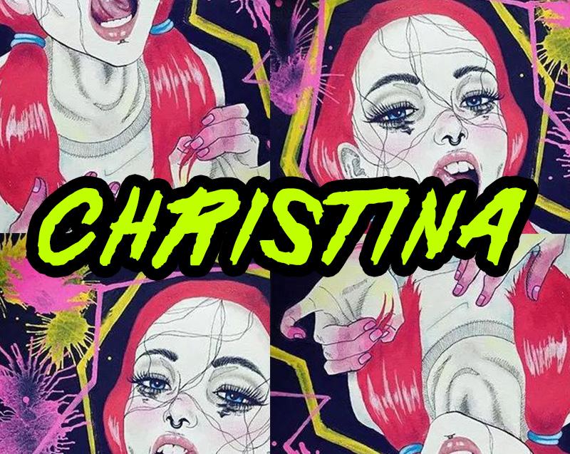 ChristinaGardiner手绘插画艺术涂鸦个性英文字体下载