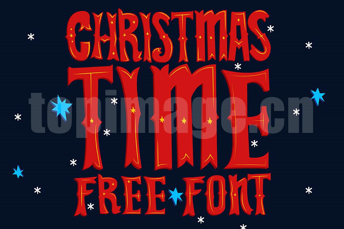 ChristmasTime复古罗马个性化卡通艺术英文字体下载