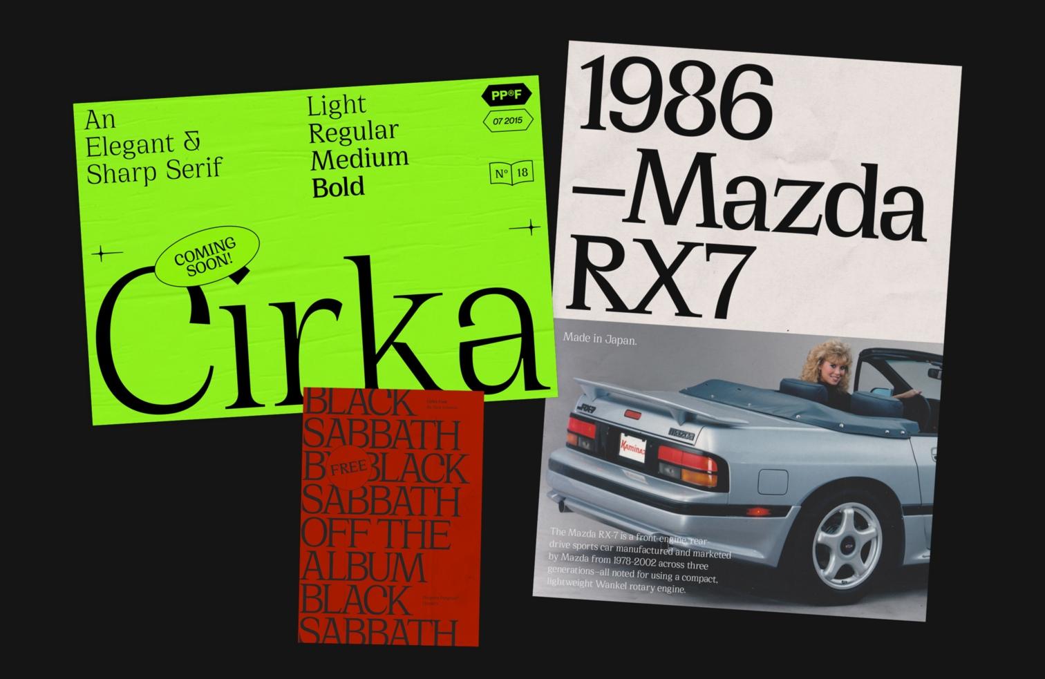 Cirka经典衬线英文字体下载