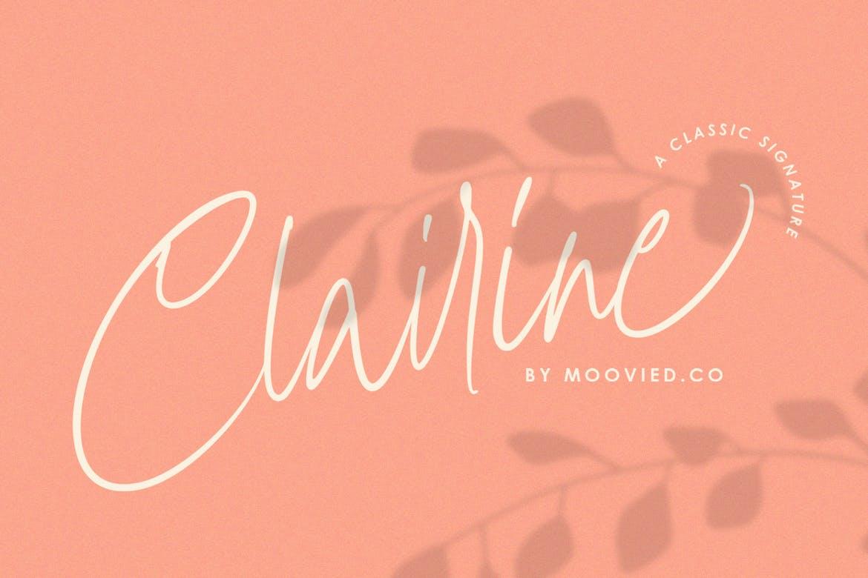 Clairine手写时尚潮流网红签名连笔英文字体下载