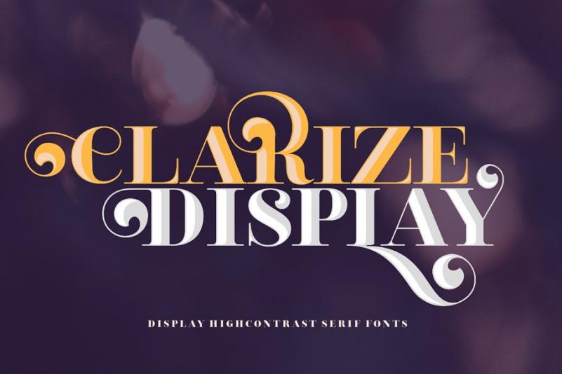 Clarize Display花式衬线英文字体下载