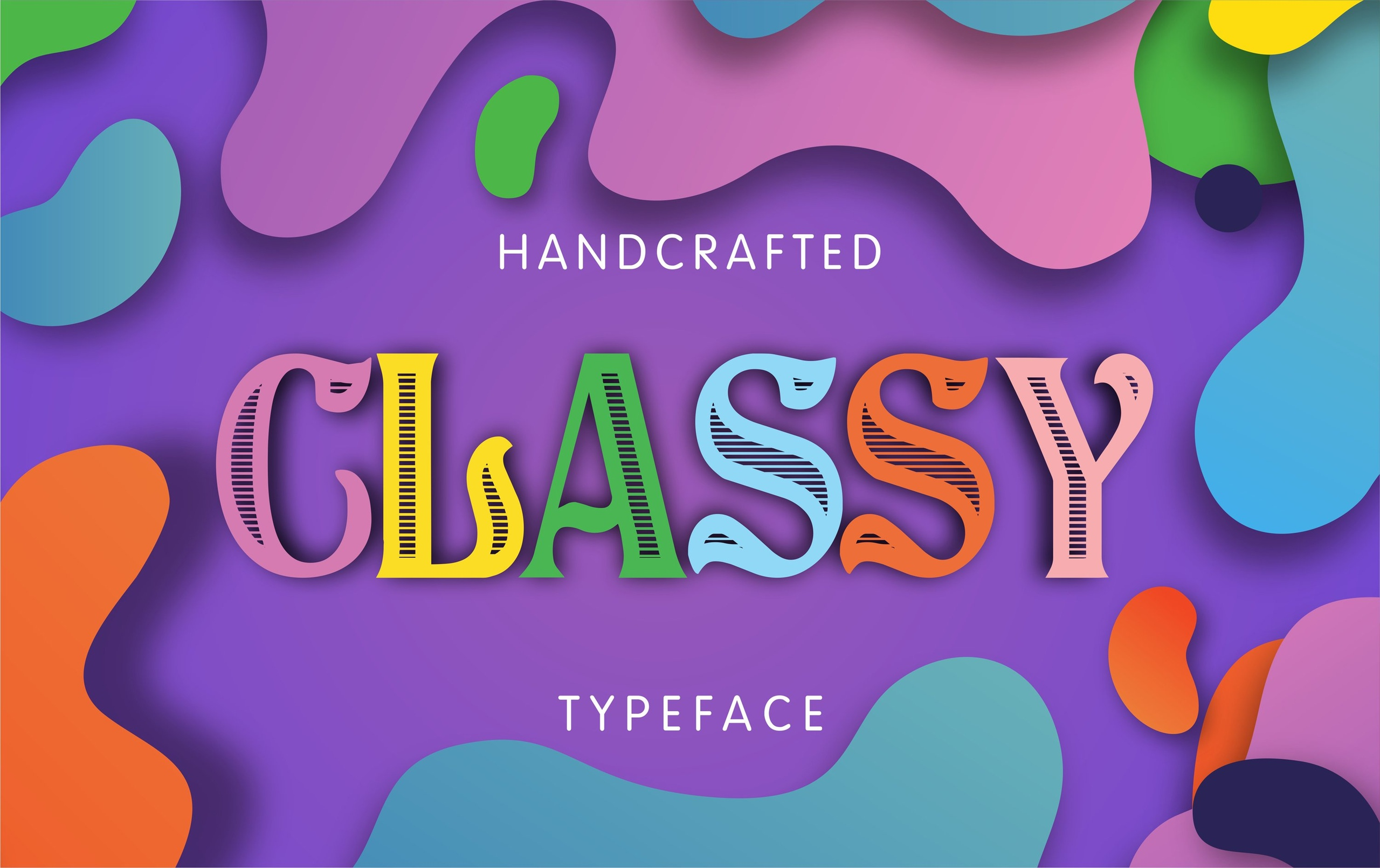 Classy个性镂空文艺设计衬线英文字体下载