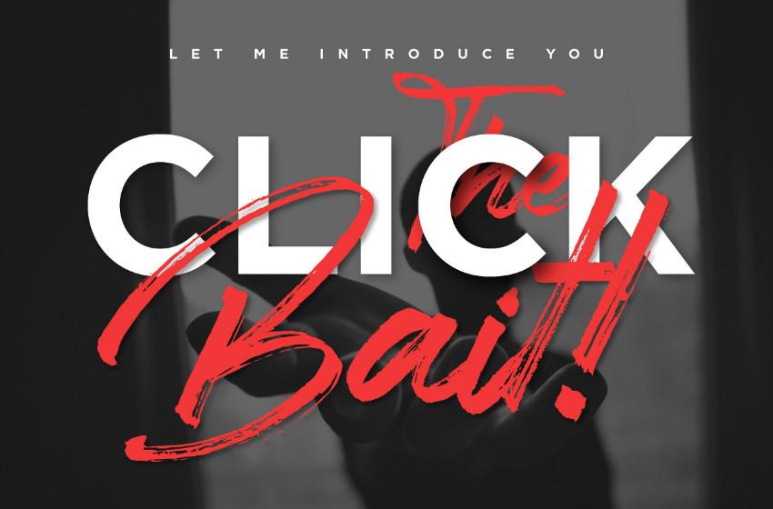 Clickbait手写书法连笔电商海报英文字体下载