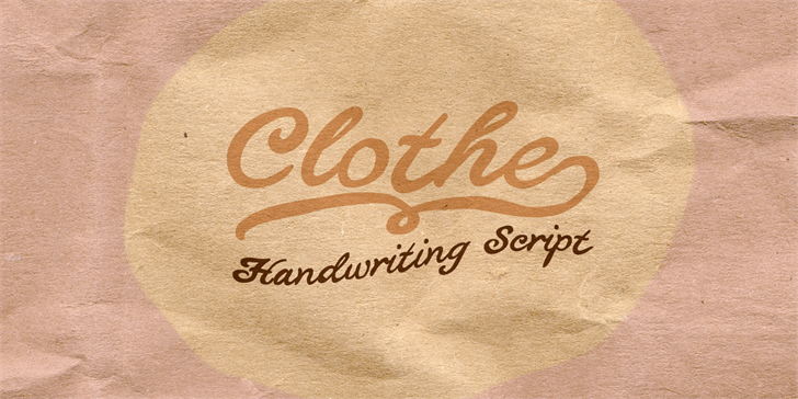 Clothe食品包装手写连笔logo英文字体下载