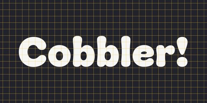 Cobbler卡通手写可爱英文字体下载