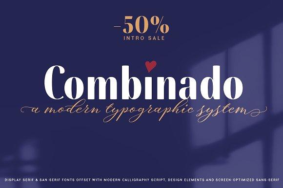 Combinado现代无衬线英文字体下载