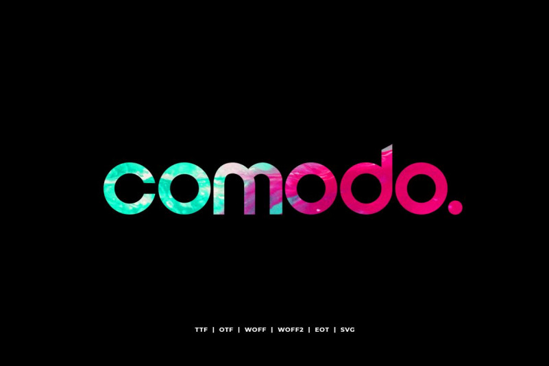 Comodo-Regular现代无衬线设计logo好看的英文字体下载