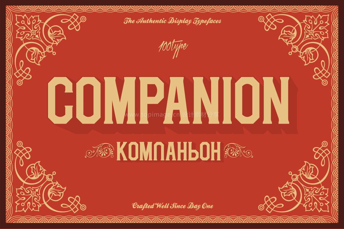 Companion现代方块矩形英文字体下载