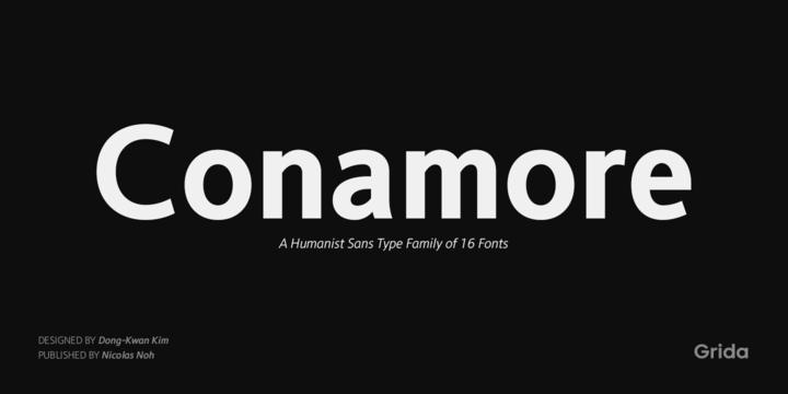 Conamore现代logo名片英文字体下载