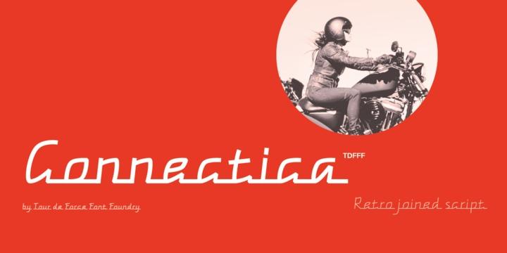 Connectica个性复古现代连笔手写英文字体下载