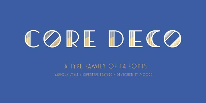 CoreDeco个性 logo创意线条英文字体下载