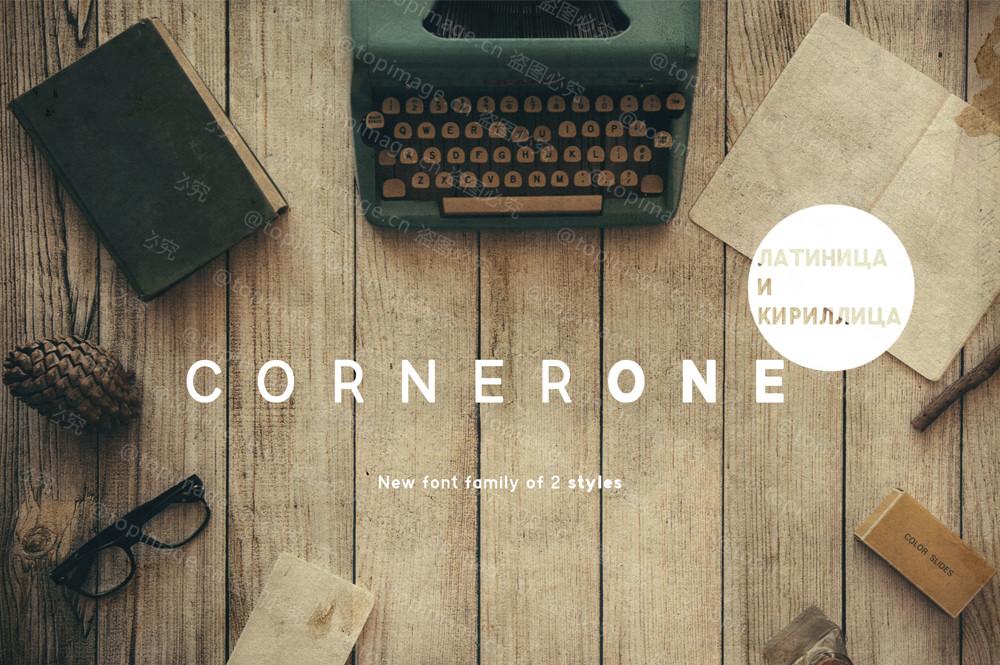 CornerOne简洁logo设计现代英文字体下载