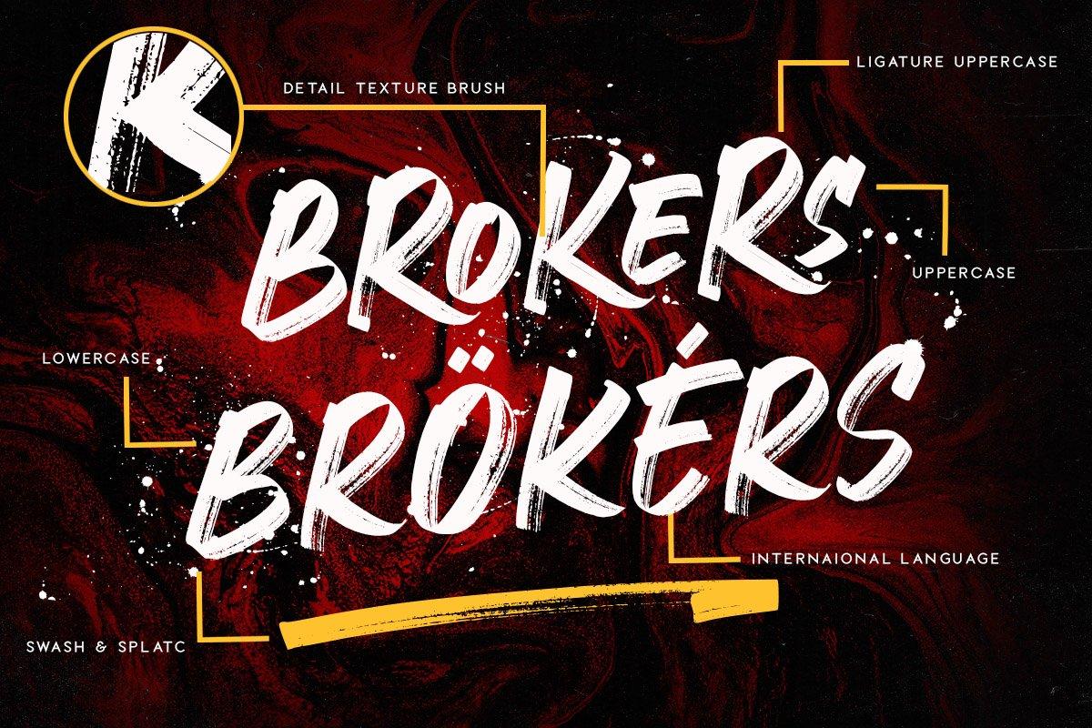 Crackers Brusher书法笔触潮牌街头涂鸦手写英文字体下载