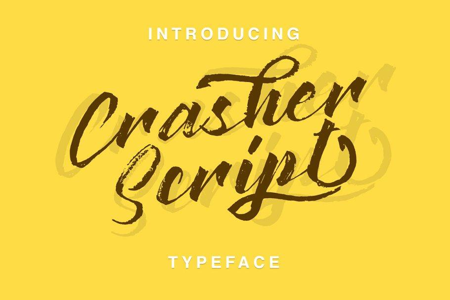Crasher笔触手写毛笔英文字体下载