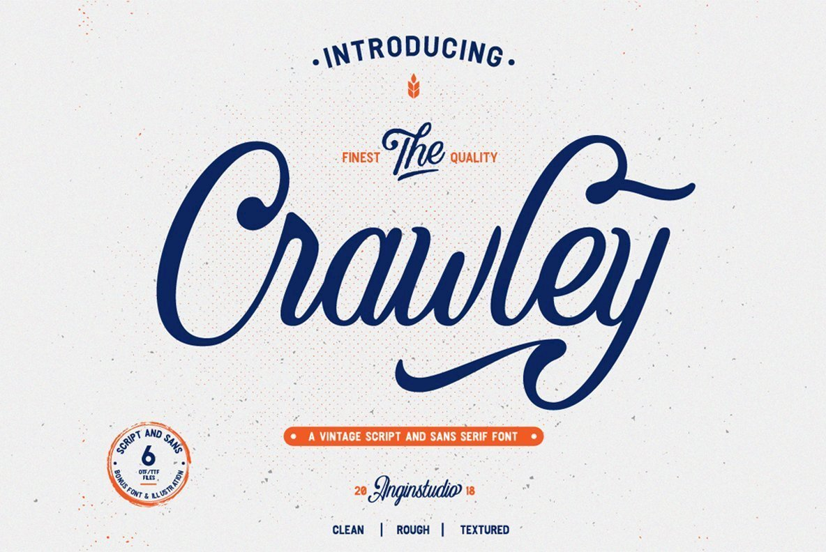 Crawley手写时尚logo英文字体下载