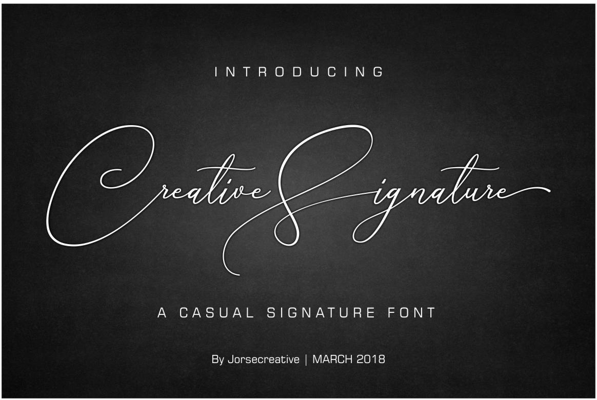 Creative Signature 创意手写连笔英文字体下载