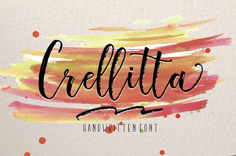 Crellitta手写连笔笔触英文字体下载