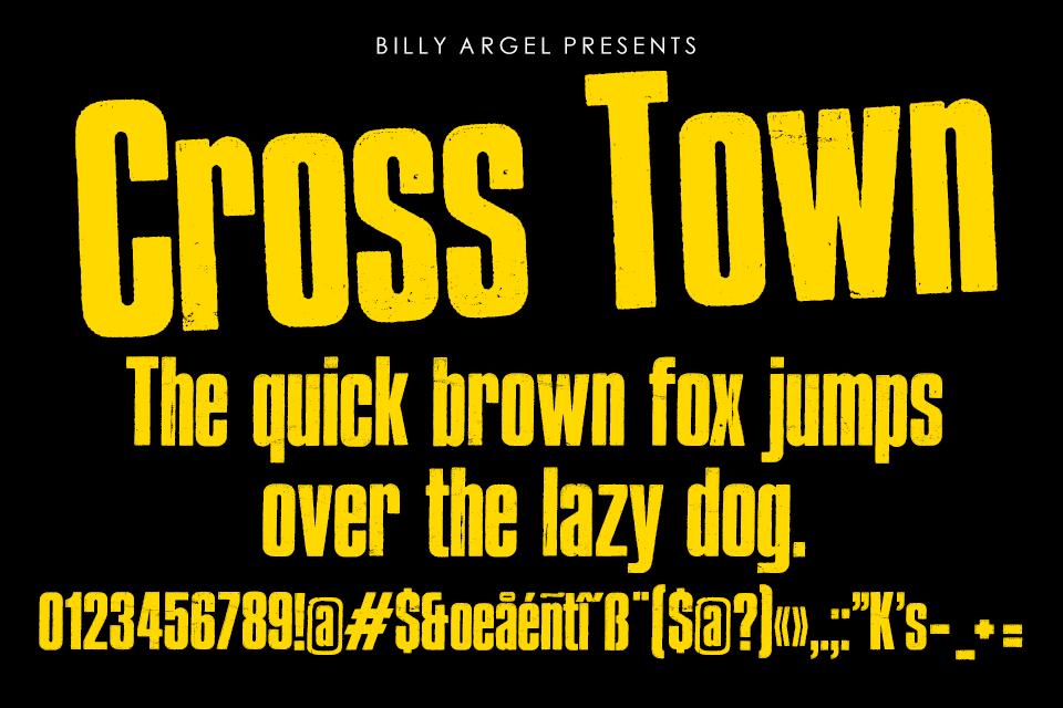 CrossTown文化衫摇滚类大气海报英文字体下载