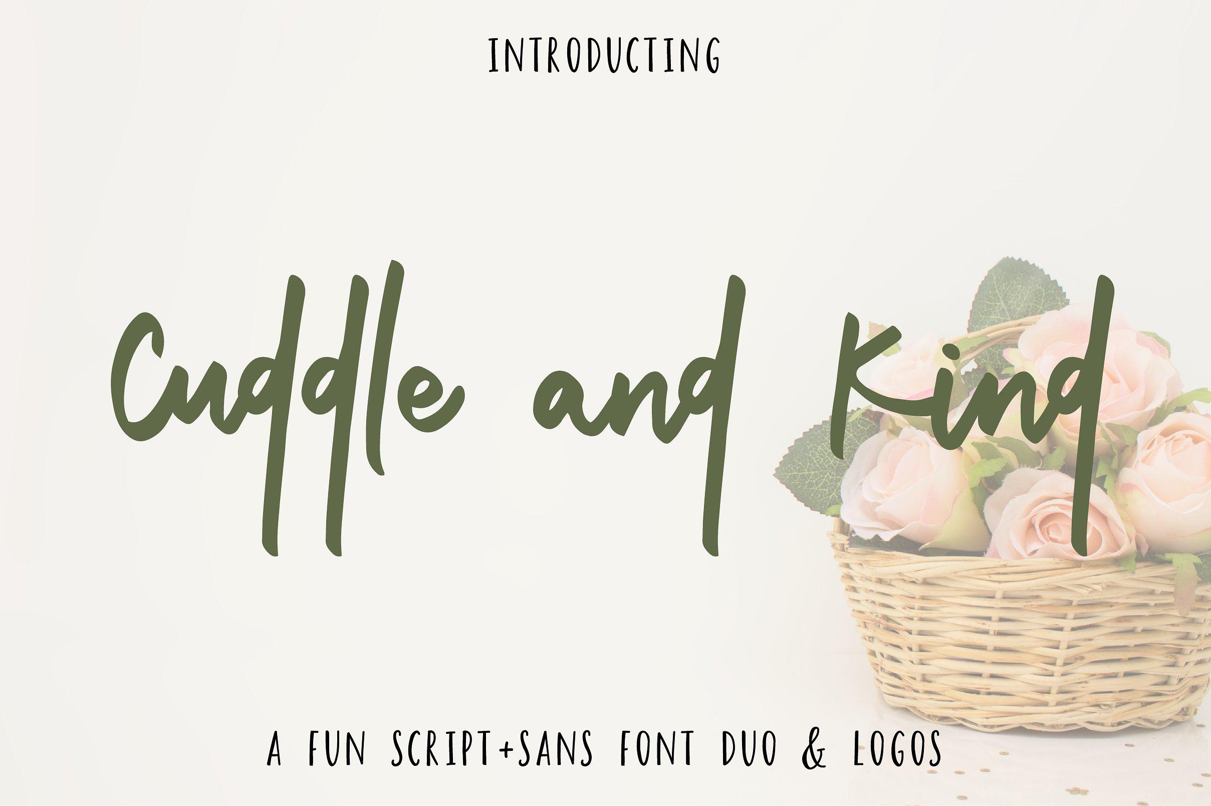CuddleandKind手写连笔时尚海报英文字体下载