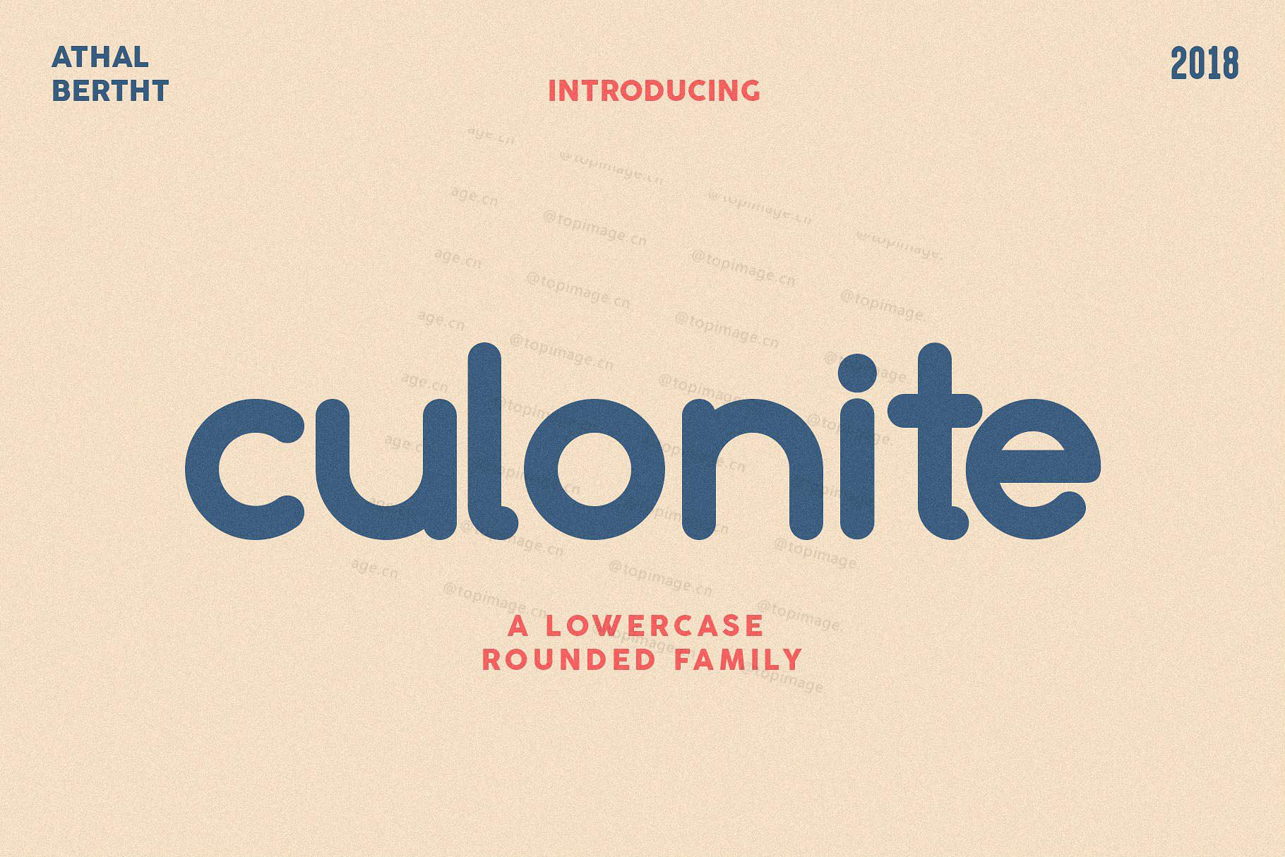 Culonite圆润现代简洁logo 英文字体下载