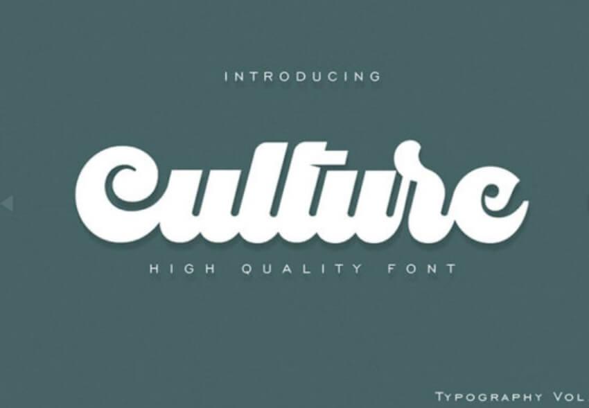 Culture个性手写连笔logo英文字体下载
