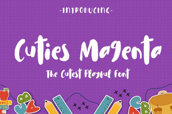 Cuties Magenta书法手写卡通英文字体下载