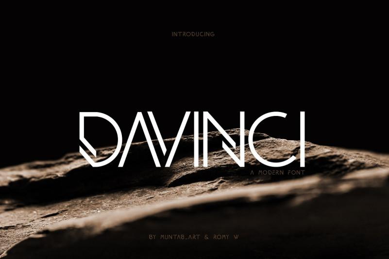 DAVINCI现代无衬线创意logo英文字体下载