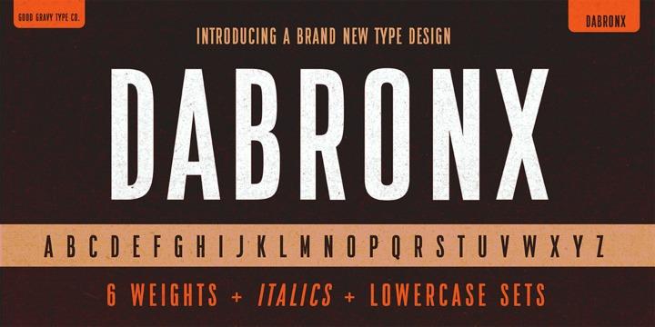 DaBronxSans现代个性logo系列英文字体下载
