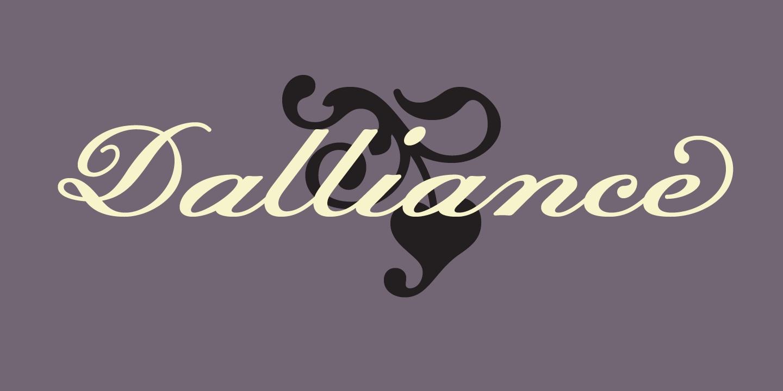 Dalliance连笔花体婚礼婚庆英文字体下载