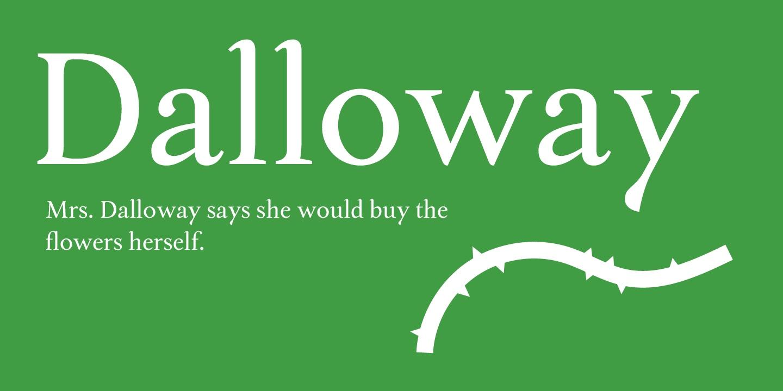 Dalloway衬线复古简洁英文字体下载