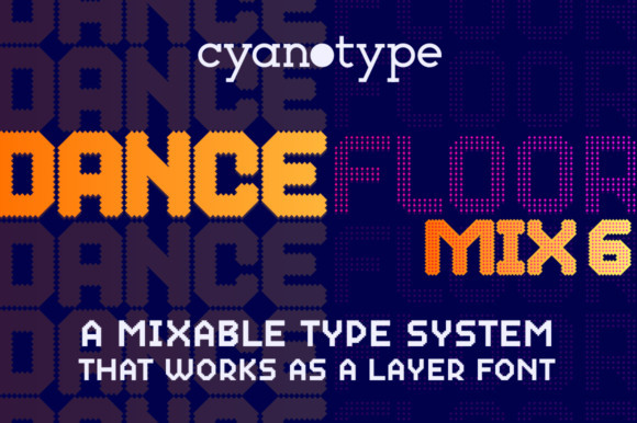 Dance Floor Jagged像素风格方块点状现代logo英文字体下载
