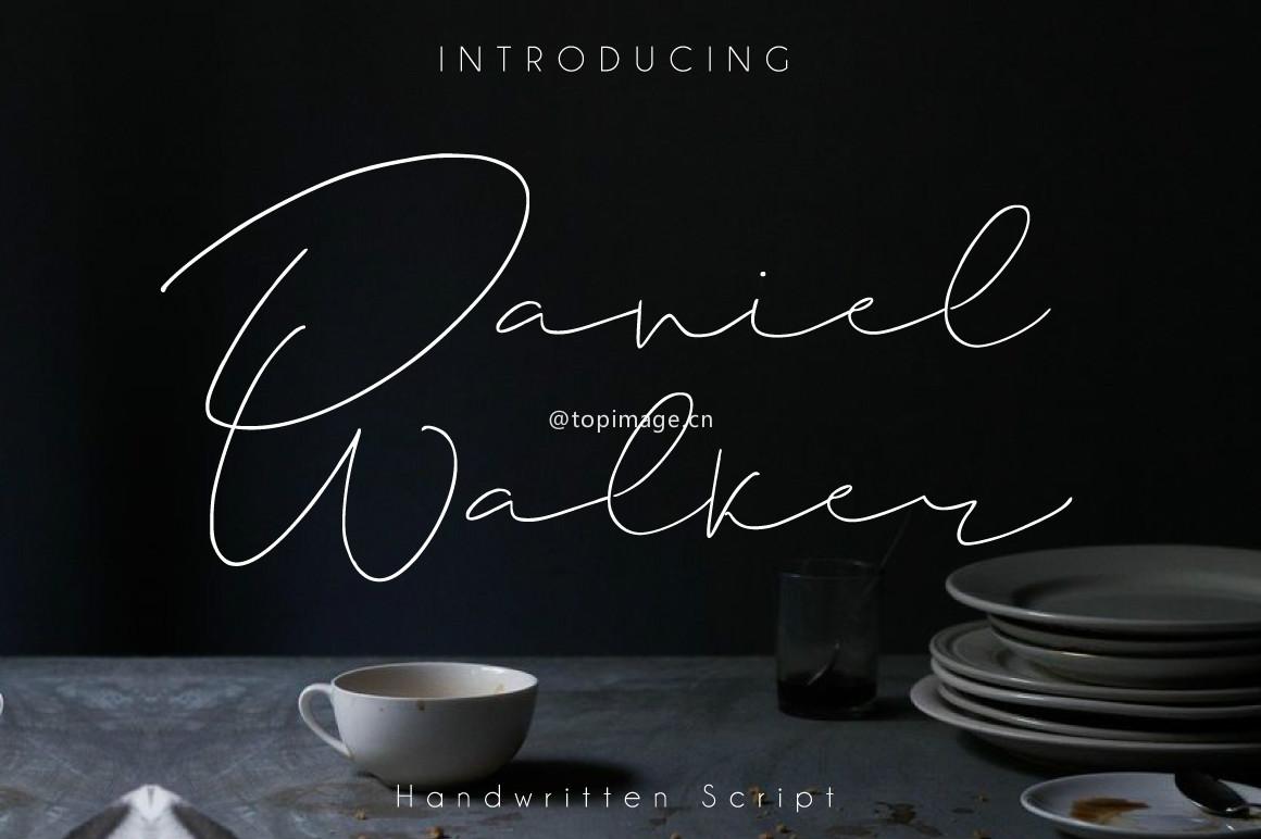 DanielWalker个性手写签名艺术英文字体下载