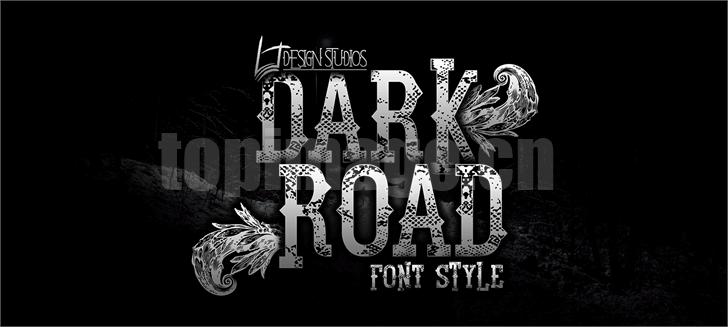 dark-road复古罗马破感个性化艺术英文字体下载