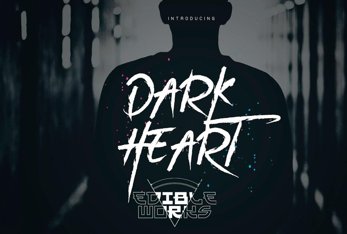 DarkHeart书法笔触大气英文字体下载