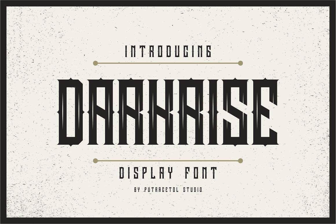 Darkrise科幻锋利影视海报英文字体下载