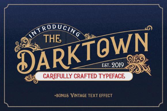 Darktown衬线复古logo设计英文字体下载