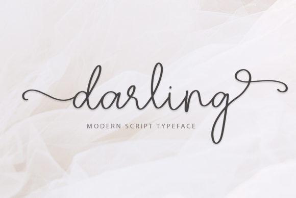 Darling现代签名手写英文字体下载