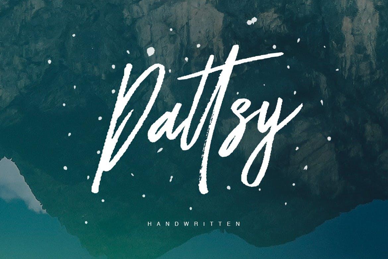Dattsy手写笔刷大气英文字体下载