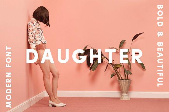 Daughter现代无衬线简洁时尚英文字体下载