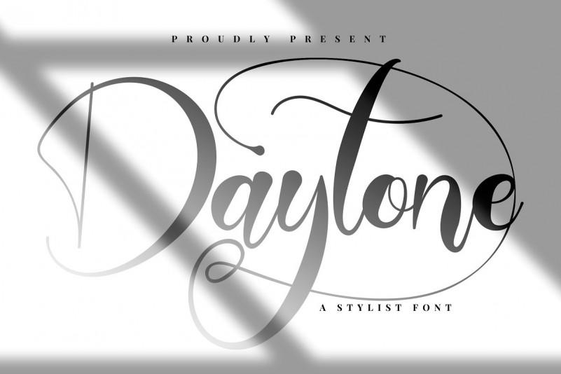 Daytone手写时尚连笔花体英文字体下载