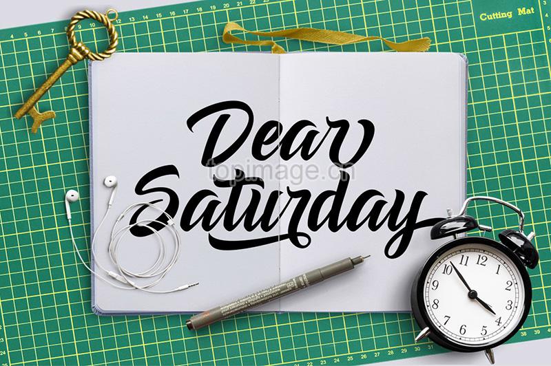 DearSaturday手写涂鸦连笔花体英文字体下载
