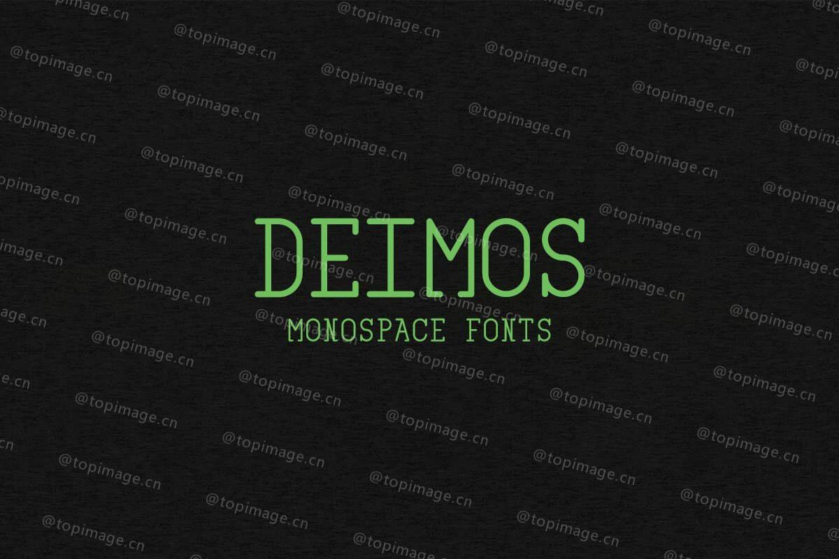 Deimos现代创意好看简洁线条的logo英文字体下载