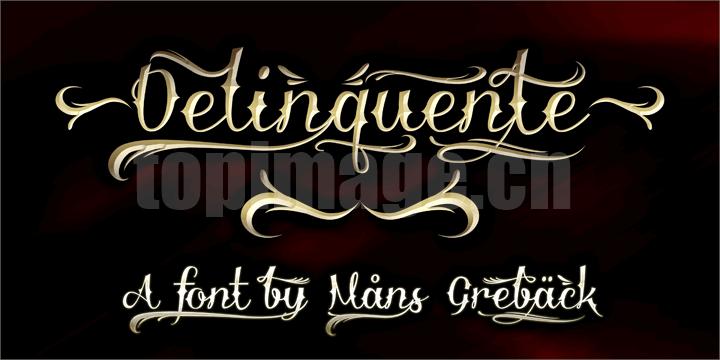 Delinquente哥特式游戏异形飘逸感个性化英文字体下载