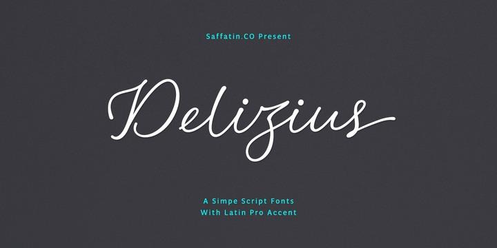 DeliziusScriptLatinPro个性名片logo手写创意英文字体下载
