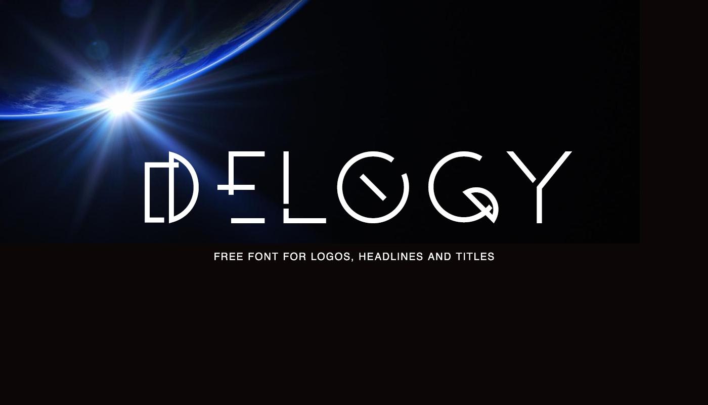 Delogy创意现代科技科幻logo英文字体下载