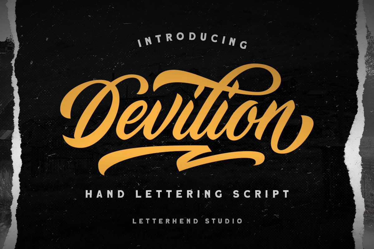 Devilion时尚电商品牌包装英文字体下载