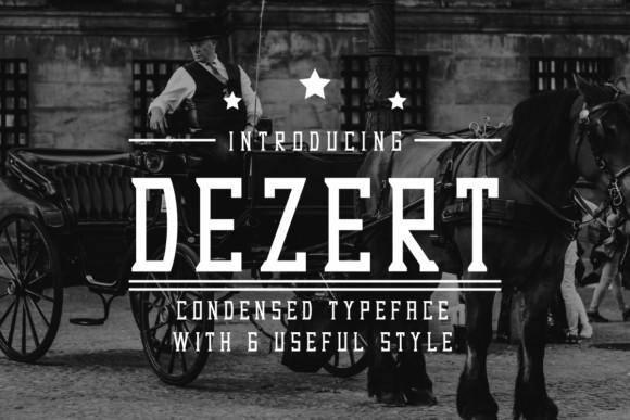 Dezert复古创意logo衬线英文字体下载