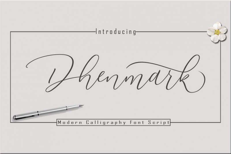 Dhenmark手写签名钢笔英文字体下载