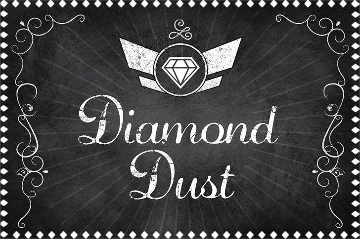 DiamondDust复古怀旧航空手写英文字体下载