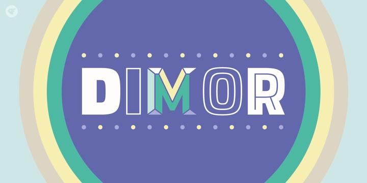 Dimor现代无衬线logo品牌好看英文字体下载